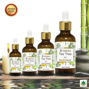 TEA TREE OIL 100% NATURAL PURE UNDILUTED UNCUT ESSENTIAL OIL 10ML TO 1000ML
