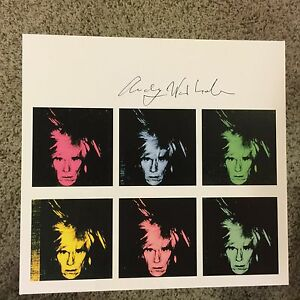 Andy Warhol signed print Six Self-Portraits 1986 - COA