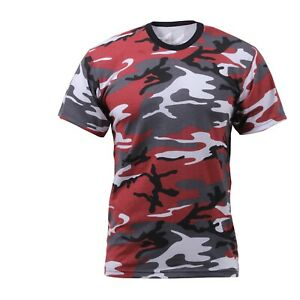 RED CAMOUFLAGE T SHIRT Made IN USA poly cotton Size 3XLARGE