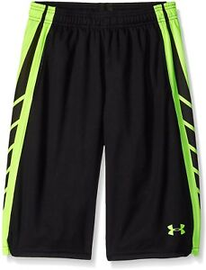 Under Armour Boys' Select Basketball Shorts BlackFuel Green Youth Small