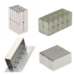50 100 Pcs Magnets Block Cube Rare Earth Neodymium Magnetic N50 N48 N52 ALL Size $15.99