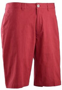 Ashworth Stretch Pinstripe Slub Short Flag Red 34 Features Front slant pockets