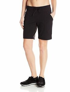 Lucy Womens Power Training Bermuda Shorts W Pockets +Hidden Pocket Blk Sz M NWT
