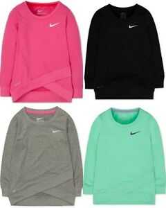 Brand New Nike Girls' Layered-Hem Sport Top T-Shirt Sizes S M L and XL