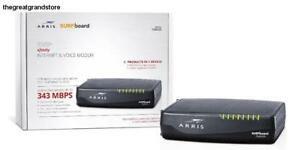 SURFboard Docsis 3.0 Cable Modem 2-Voice Lines for Comcast Xfinity Tele Ports