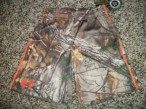 UNDER ARMOUR New NWT Boys Youth Kids Shorts Camo Camouflage Real Tree 4 5 6 7