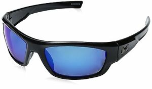 Under Armour Ua Force Polarized Oval Sunglasses Black Blue 60 mm