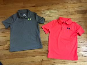 Under Armour Youth Medium Golf Shirts and Pants Lot