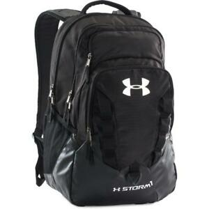 New Under Armour Black Storm Recruit Laptop Travel Backpack Book bag 1261825-001