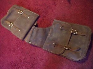 VINTAGE LEATHER HANDMADE SADDLE BAGS POSSIBLE BAG BUSHCRAFT