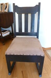Rocking Chair with a Sewing Drawer 1910 Craftsman style $275.00