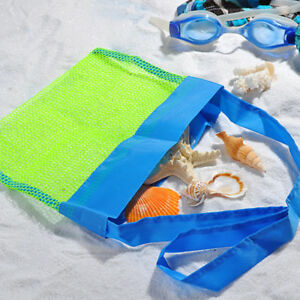 Beach Shell Storage Mesh Bag Foldable Pouch for Travel Storage Collection