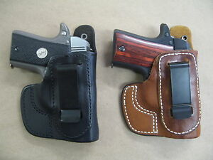 Azula Leather In The Waist IWB Concealment Holster CCW For..Choose Gun Color - A