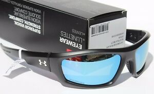 UNDER ARMOUR Power POLARIZED Sunglasses Satin BlackBlue Multi NEW Sport $140