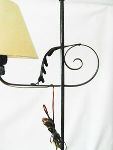 2)- base lamp wrought iron 20th year 50 60 VINTAGE design lamp floor