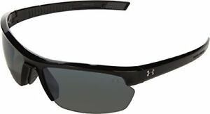 Under Armour Under Armour Stride XL Rectangle Sunglasses Shiny Black FrameGr...