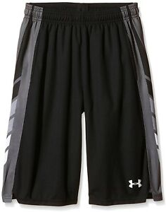 Under Armour Boy's Select Basketball Shorts BlackWhite Youth Small