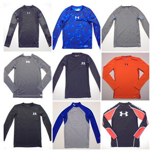 Boys Under Armour Fitted Shirts -Long sleeve Heatgear -Click Size for full list