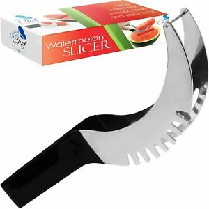 Watermelon Cutter Slicer Knife Server Corer Scoop Stainless Steel Kitchen Tool