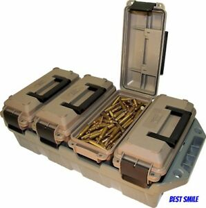 Ammo Box CAse Storage Protect Dafety Cabinet Lid Open NEW Transport Crate 4 Can
