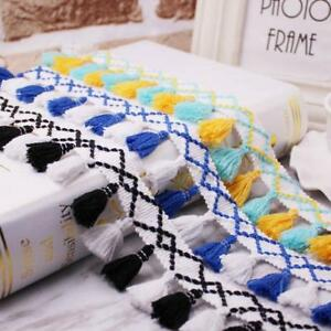 5 Yards Tassel Lace Trim Handmade Sewing Curtains Clothes bag DIY Accessories $1.99