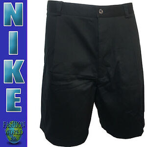 Men's Size 36 Nike Golf Fit Dry Single Pleat Shorts Wrinkle Resistent Black