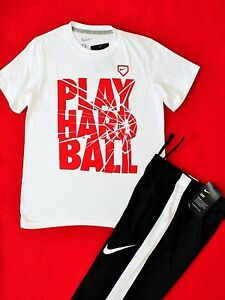 NWT ~~BOY'S NIKE DRY FIT TRAINING PANTS & COTTON T-SHIRT YOUTH SIZE SMALL (8)~~