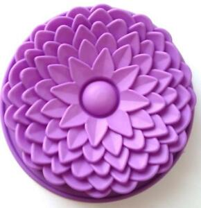 Large Flower silicone Cake mold Chocolate Candy Cupcake Baking Tools Supplies