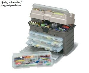 Fishing Tackle Boxes Plastic Storage System Bait Fish Saltwater Lures Soft Racks