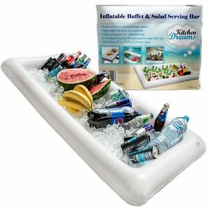 Inflatable Serving Bar, Buffet Salad Food & Drink Ice Cooler Picnic Camp Party