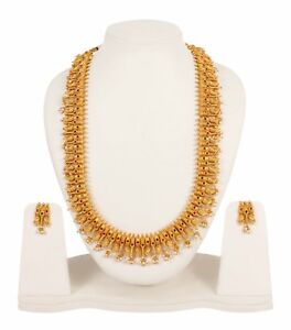 Set Necklace Indian Jewelry Gold Plated Bollywood Wedding Fashion Bridal Earring