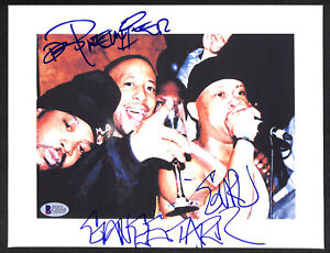 SIGNED AUTOGRAPHED MC GURU & DJ PREMIER GANG STARR PHOTO BECKETT BAS VERY RARE!!