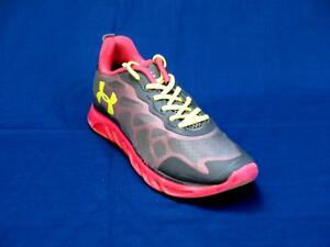 Under Armour Women Pink & Gray Fabric Walking Sneakers Size 9-M