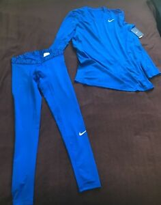 NIKE DRY DRI-FIT BASE LAYER FITTED TOP AND TIGHTS - SIZE MEDIUM