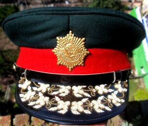 NEPALESE ARMY GENERAL EMBROIDERY VISOR HAT CAP 1980s