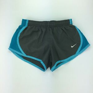 Nike Dri-fit Dry Tempo Running Shorts Kids' Built-in Briefs  Gray Blue Sz XS
