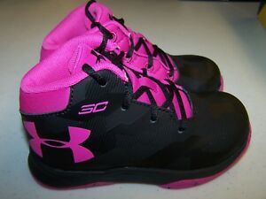 Under Armour Inf CURRY 2.5 BlackPink Girls Infant Toddler Sneakers NEW