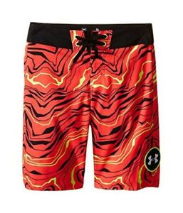 Under Armour Kids Boys UA Barrel Boardshorts (Big Kids) Rocket Red Board Shorts