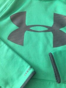 🍁Under Armour Youth Girls Hoodie Pullover Sweatshirt Jacket  Green Size L EUC