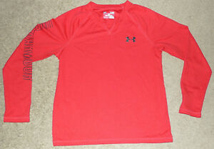 Boys YLG L Large Under Armour Monument All Season Waffle Pullover LS Loose Shirt
