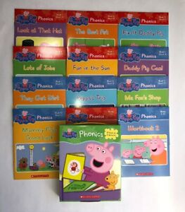 Peppa Pig Childrens Books Phonics Learn to Read Gift Set Lot 12
