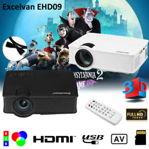 7000 LUMENS 3D FULL 1080P HD HOME MOVIE THEATER MULTIMEDIA USB LCDLED PROJECTOR