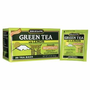 Bigelow Tea Green Tea with Lemon Decaffeinated 20 Bag S