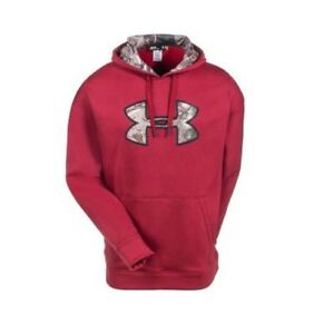Under Armour Men's Hoodie 1248019-600 Red and Camo Size 2xl