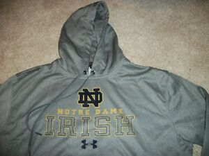 UNDER ARMOUR Notre Dame Fighting Irish New NWT XL Mens Hoodie Sweatshirt Loose