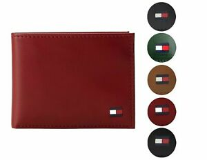 Tommy Hilfiger Men#x27;s Premium Leather Credit Card ID Wallet Passcase 31TL22X046