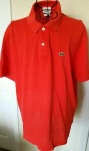 Lacoste Polo Shirt Size 6 Large Sport Short Sleeve Collared Red Solid Alligator