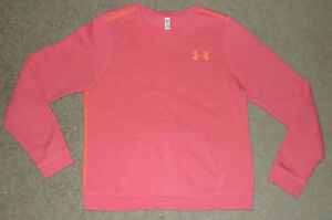 Womens Small S Under Armour UA Fleece Cotton Crew Fitted Sweatshirt Pullover