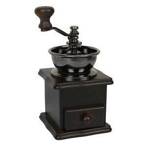Evelyne Wood Vintage Antique Coffee Bean Mill Windmill Hand Crank Manual Grinder $19.95