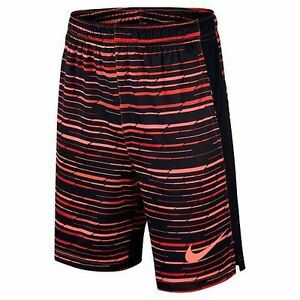 one Nike Boy's Striped Shorts red with strings Size  M Dry fit